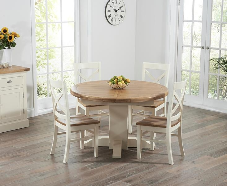 Marvellous Round Oak Extendable Dining Table And Chairs 11 With Within Most Current Round Extendable Dining Tables And Chairs (Image 15 of 20)