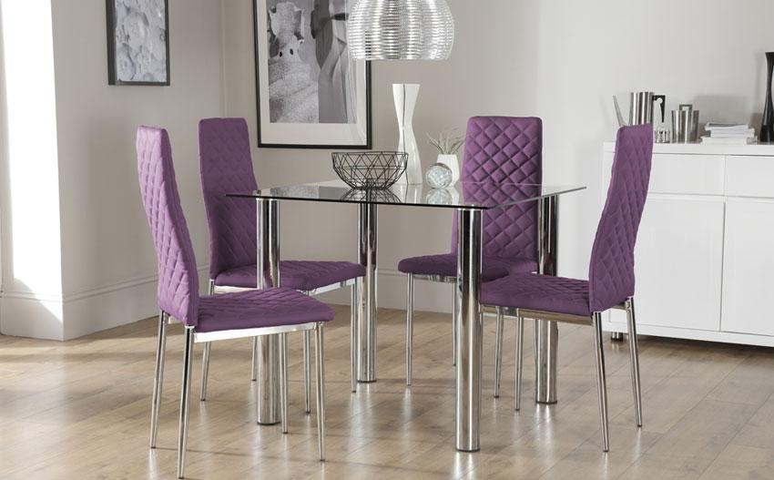 Marvelous Dining Table And Purple Chairs 44 On Dining Room Chairs Intended For Latest Dining Tables And Purple Chairs (View 13 of 20)