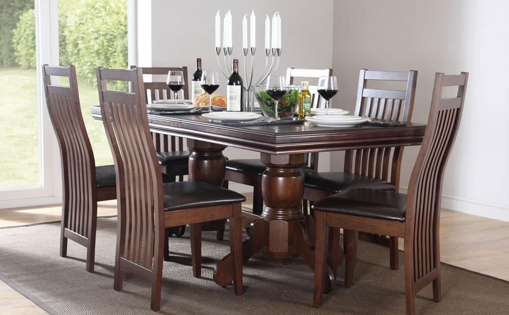 Marvelous Ideas Dark Wood Dining Room Set Extraordinary Intended For Most Current Dining Tables Dark Wood (Image 19 of 20)