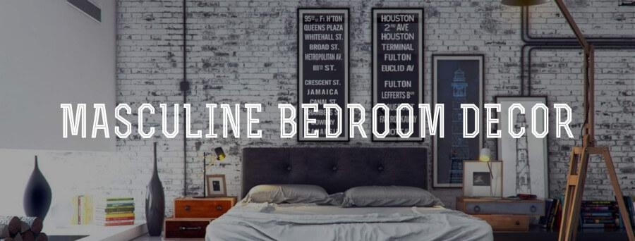 Masculine Bedroom Decor — Gentleman's Gazette With Cool Wall Art For Guys (View 12 of 20)