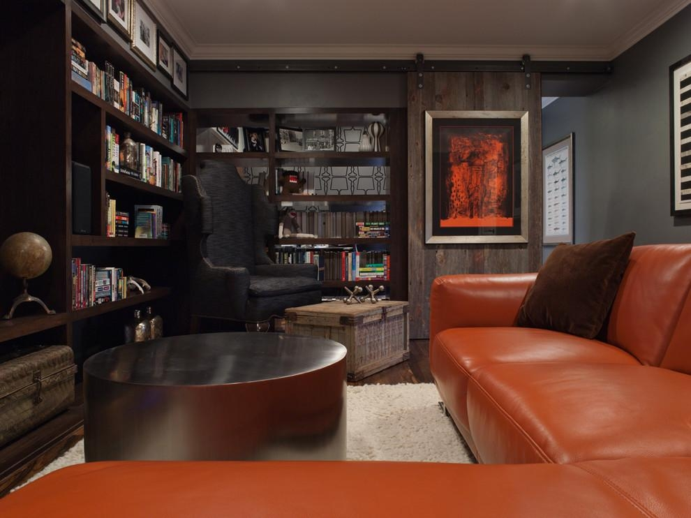 Masculine Wall Art Home Theater Contemporary With Barn Door Pertaining To Masculine Wall Art (View 5 of 20)