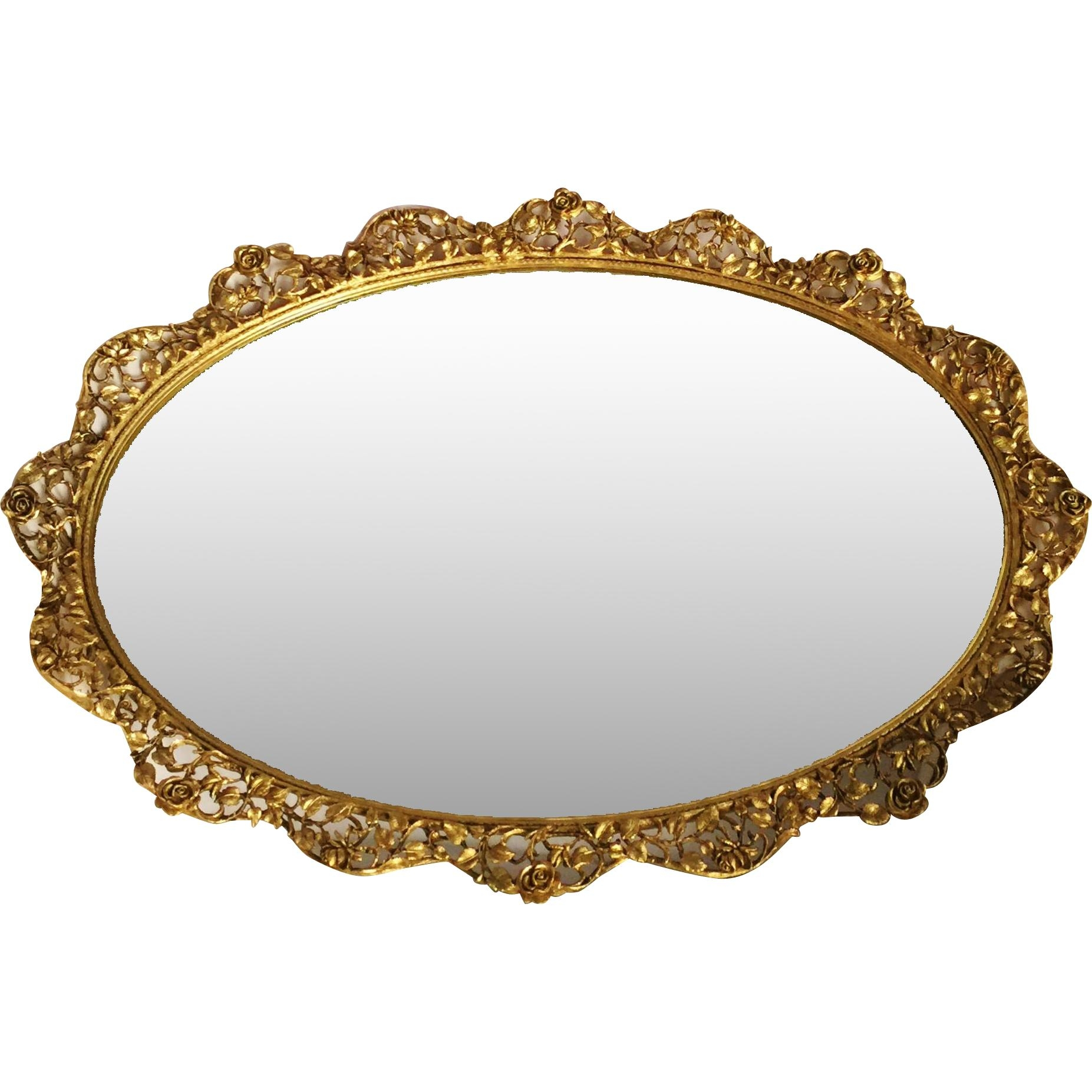 Matson Oval Mirror Tray, Lg (Image 15 of 20)