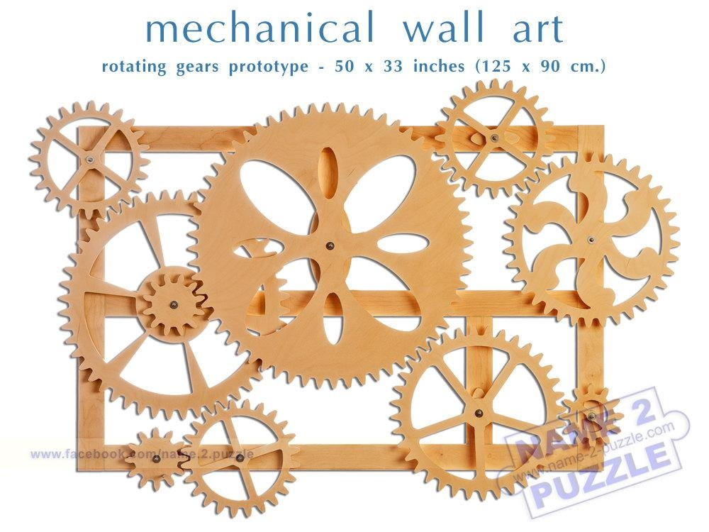 Mechanical Wall Art. Kinetic Wall Art Decor (Image 15 of 20)