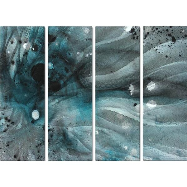 Megan Duncanson 'turquoise Ecstasy Iv' Metal Wall Art – Free With Turquoise Metal Wall Art (Image 10 of 20)