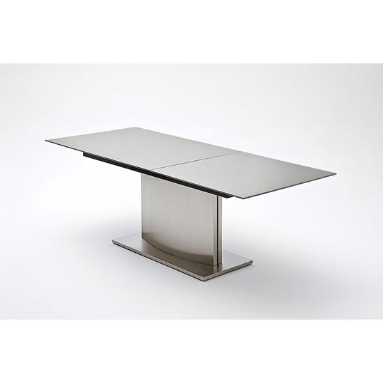 Memory Extendable Grey Glass Dining Table 19887 Furniture Regarding Current Grey Glass Dining Tables (View 3 of 20)