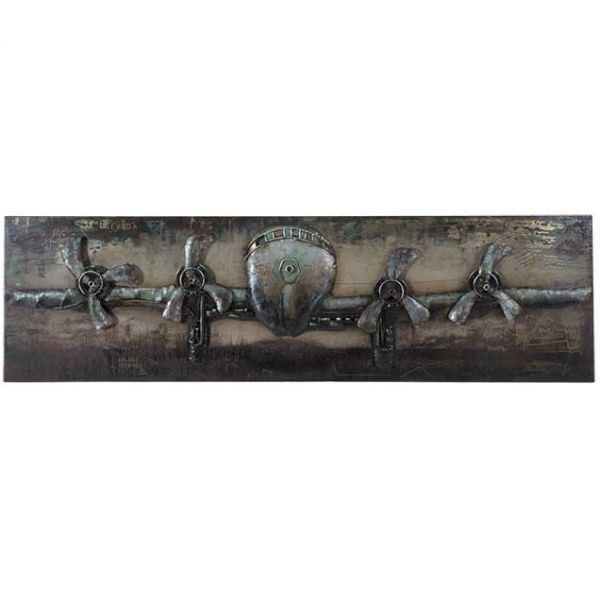 Metal Airplane Wall Decor | 123 130619 | G130619 | Prime Taste Within Metal Airplane Wall Art (View 9 of 20)