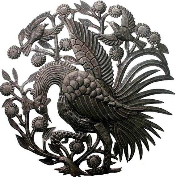 Metal Art Metal Rooster Metal Wall Hanging Metal Wall Art For Metal Rooster Wall Art (Image 7 of 20)