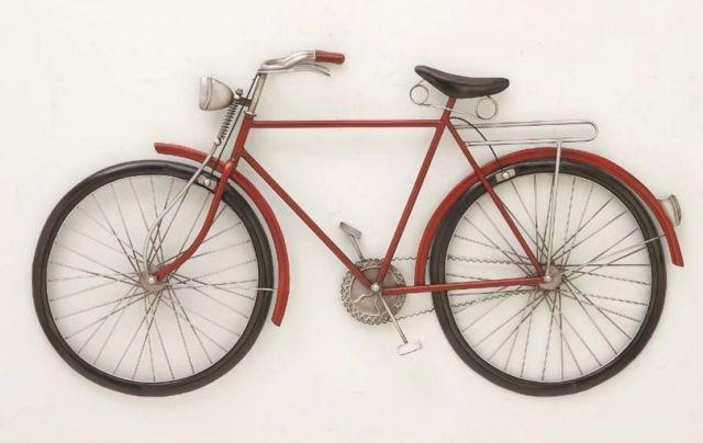 Metal Bicycle Wall Decoration Hanging Bike Sculpture Statue Regarding Metal Bicycle Art (Image 13 of 20)