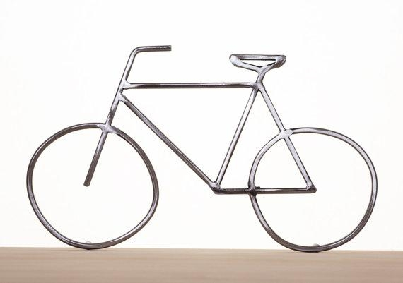 Metal Bike Art Bike Sculpture Metal Bicycle Metal Wall Art Pertaining To Metal Bicycle Art (Image 15 of 20)