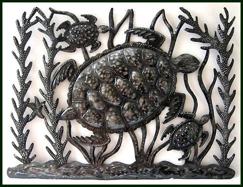 Metal Fish Wall Art – Sealife – Haitian Metal Art Designs For Outdoor Metal Turtle Wall Art (Image 8 of 20)
