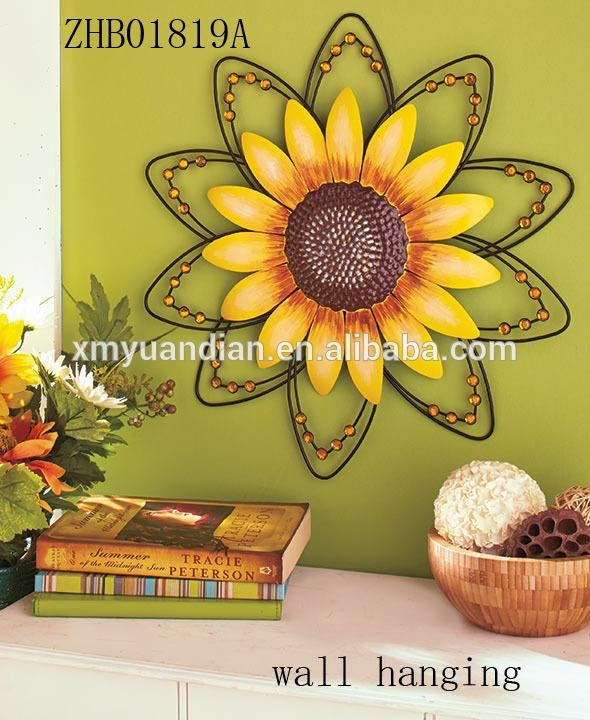 Metal Flower Wall Art, Metal Flower Wall Art Suppliers And Throughout Metal Sunflower Wall Art (View 13 of 20)