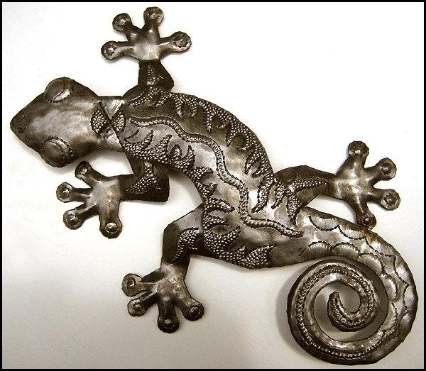 Metal Gecko Outdoor Wall Decor 38 Haitian Metal Art With Regard To Gecko Outdoor Wall Art (View 7 of 20)