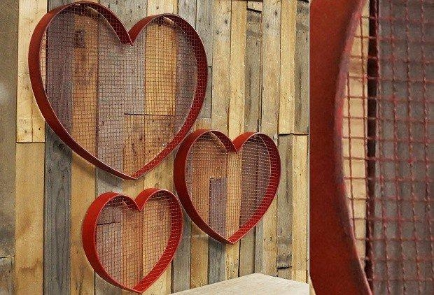 Metal Heart Wall Decor | Heart Shaped Wall Art Antique Farmhouse Inside Heart Shaped Metal Wall Art (View 10 of 20)
