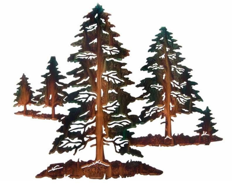 Metal Pine Tree Wall Art Western Pine Tree | Home Interior & Exterior Regarding Metal Pine Tree Wall Art (View 13 of 20)
