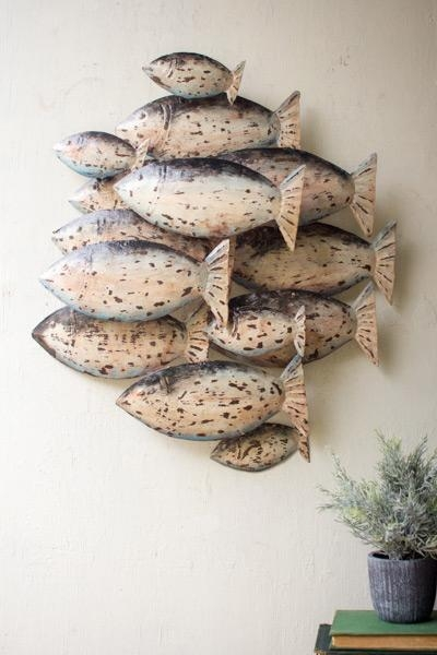 Metal School Of Fish Wall Art [A2219Ka] – $ (Image 8 of 20)