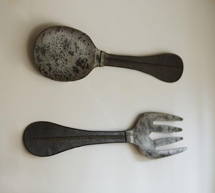 Metal Spoon & Fork Wall Art | Pottery Barn For Large Spoon And Fork Wall Art (View 15 of 20)
