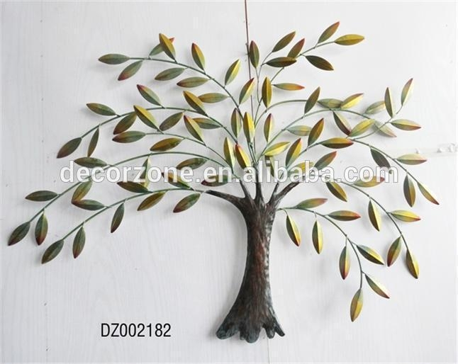 Metal Tree And Leaf Wall Decor Art – Buy Metal Leaf Wall Art,iron Regarding Iron Tree Wall Art (Image 12 of 20)