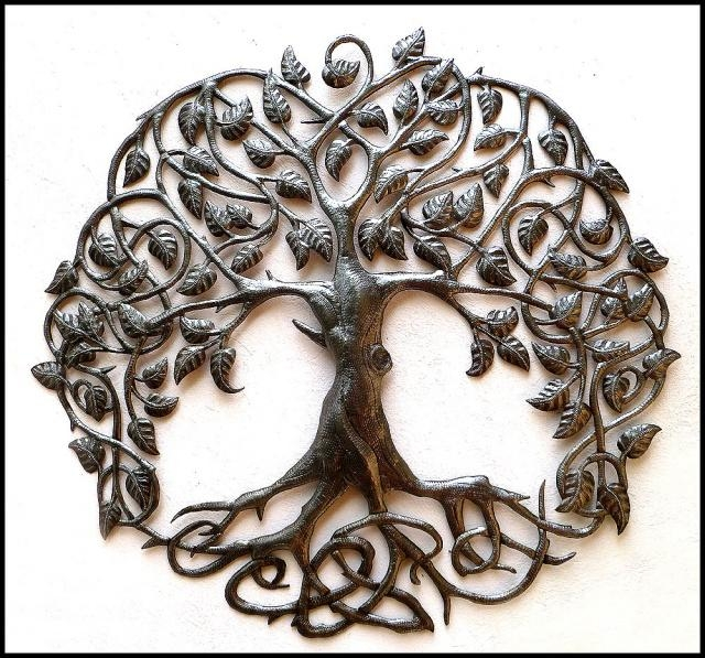 Metal Tree Of Life Wall Art – Haitian Steel Drum Art Wall Decor With Regard To Iron Tree Wall Art (View 15 of 20)