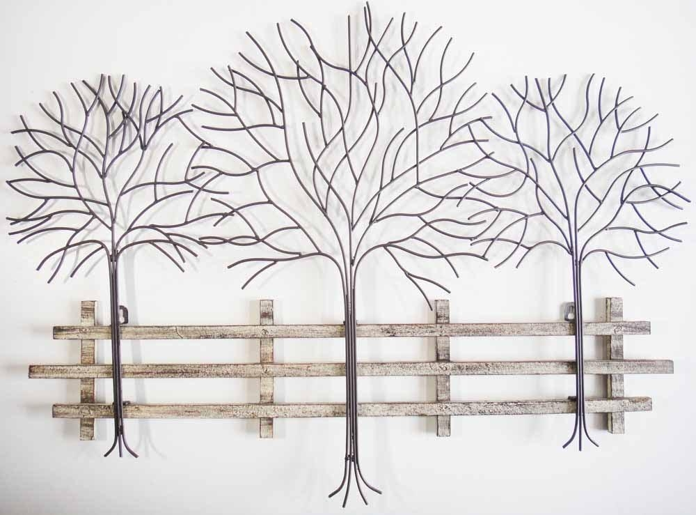 Metal Tree Wall Art – Contemporary Metal Wall Art Autumn Tree Inside Iron Tree Wall Art (Image 15 of 20)