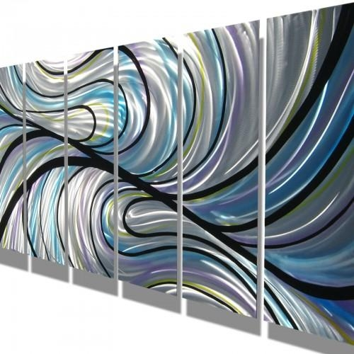 Metal Wall Art Abstract Contemporary Modern Sculpture Huge Pertaining To Swirl Metal Wall Art (View 5 of 20)