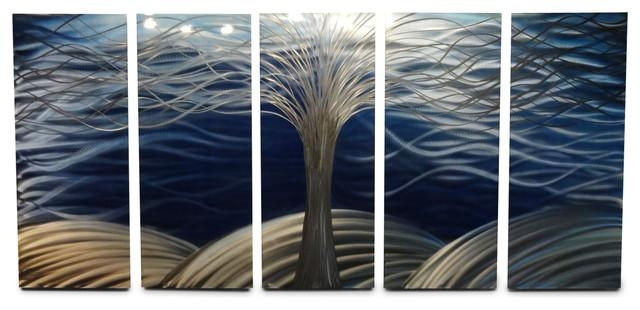 Metal Wall Art Decor Abstract Contemporary Modern Sculpture – Tree Inside Large Metal Wall Art Sculptures (Image 16 of 20)