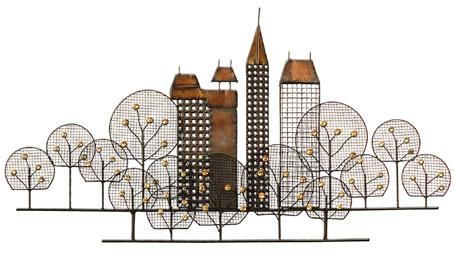 Metal Wall Art For Metal Wall Art New York City Skyline (Image 10 of 20)