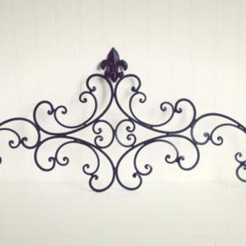 Metal Wall Art / Headboard / Living Room From Willows Grace With Regard To Decorative Outdoor Metal Wall Art (Image 14 of 20)