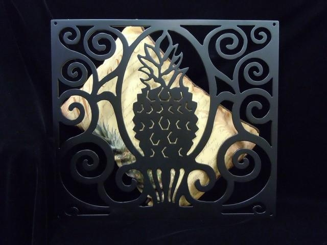"Metal Wall Art ""pineapple"" – Charleston Collections & Gifts Pertaining To Pineapple Metal Wall Art (Image 12 of 20)"