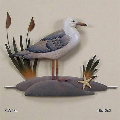 Metal Wall Art, Tropical Gifts, Nautical Wall Art, Tropical Wall With Regard To Seagull Metal Wall Art (View 16 of 20)
