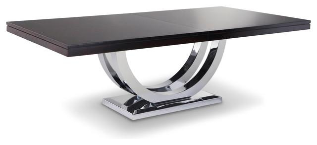 Metro Chrome Base Dining Table – Modern – Dining Tables – Other For Latest Chrome Dining Sets (Image 11 of 20)