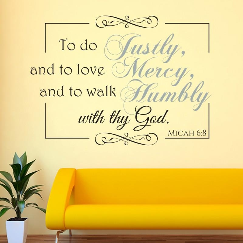 Micah 6:8 Scripture Vinyl Wall Art | Divine Walls Pertaining To Scripture Vinyl Wall Art (View 20 of 20)