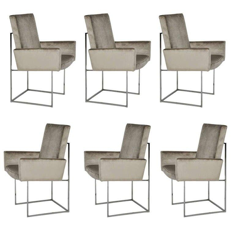 Milo Baughman Chrome Dining Chairs At 1Stdibs With Regard To Current Chrome Dining Chairs (View 5 of 20)