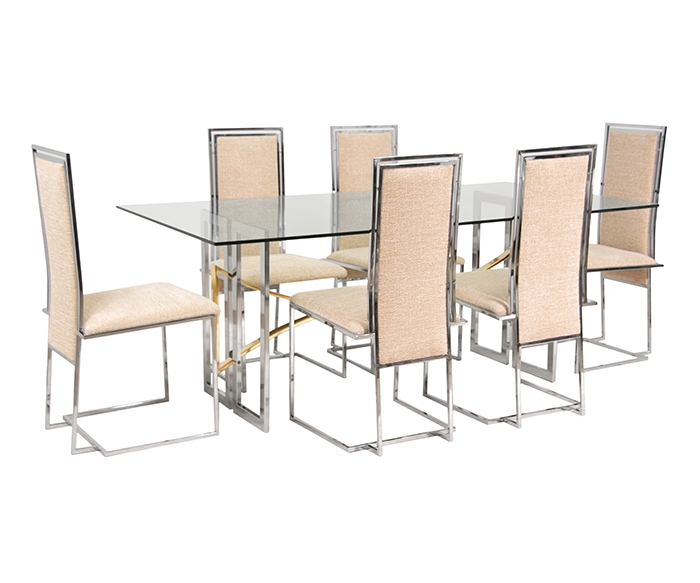 Milo Baughman Chrome Dining Set For Thayer Coggin – Danish Modern L (Image 12 of 20)