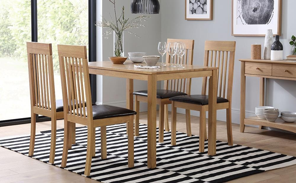 Milton Dining Table And 4 Chairs Set (Oxford Light) Only £ (Image 10 of 20)