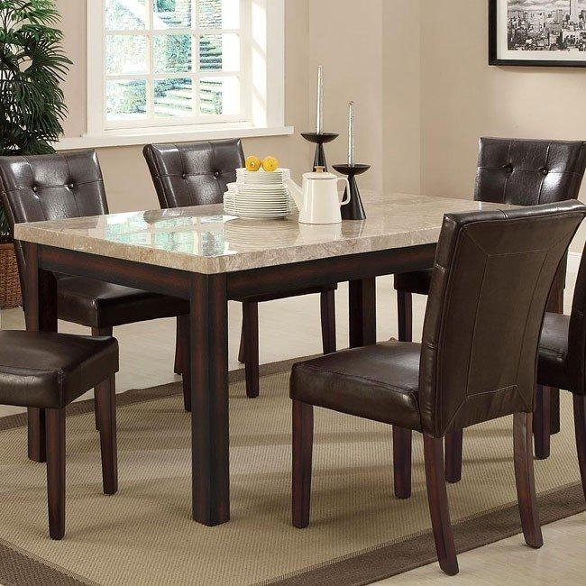 Milton Rectangular Dining Table W/ Light Marble Top Coaster Within Most Recently Released Milton Dining Tables (Image 13 of 20)