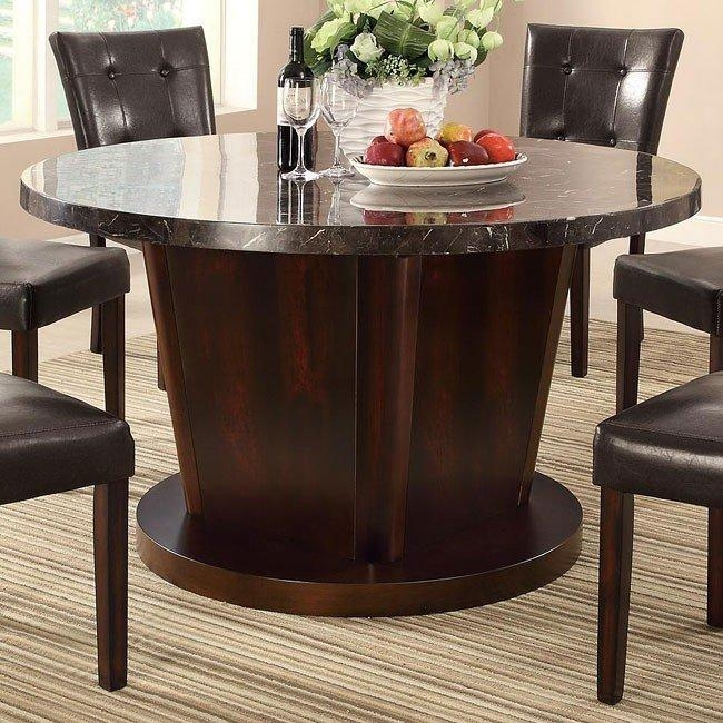 Milton Round Dining Table W/ Dark Marble Top Coaster Furniture With Regard To Most Up To Date Milton Dining Tables (Image 14 of 20)
