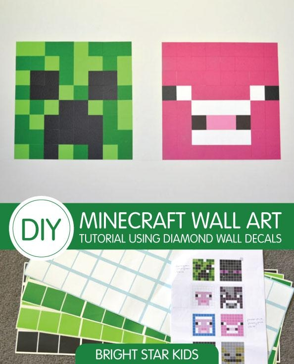 Minecraft Wall Stickers Amazon Uk ~ Color The Walls Of Your House Regarding Minecraft Wall Art Uk (Image 6 of 20)