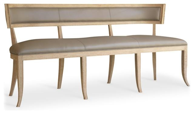 Minnelli Hollywood Regency Ivory Leather Dining Entry Bench Within Best And Newest Ivory Leather Dining Chairs (View 15 of 20)