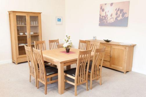 Minsk Large Square Oak Dining Table 8 Seater With Regard To 2017 Square Oak Dining Tables (View 6 of 20)