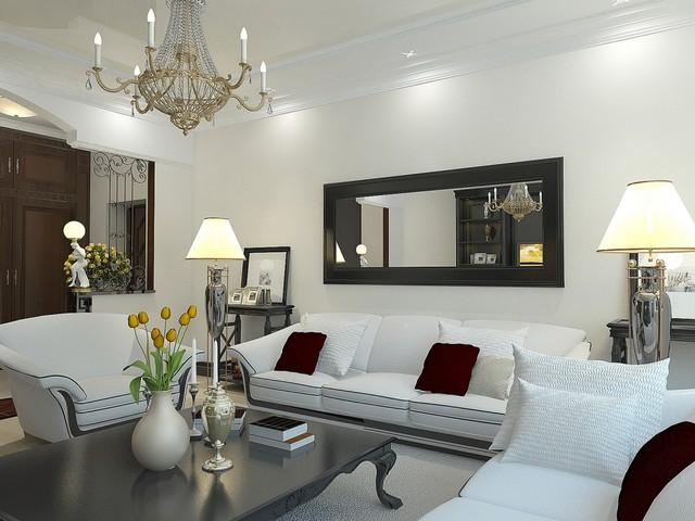 Mirror Above Sofa | Houzz With Mirror Above Sofas (Image 9 of 20)