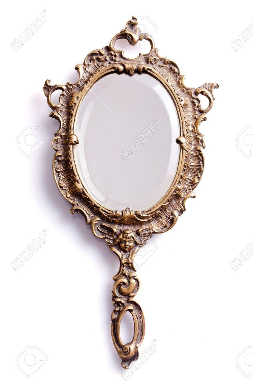 Mirror : Beautiful Vintage Mirrors This Beautiful Vintage Solid Throughout Decorative Hand Mirrors (Image 11 of 20)