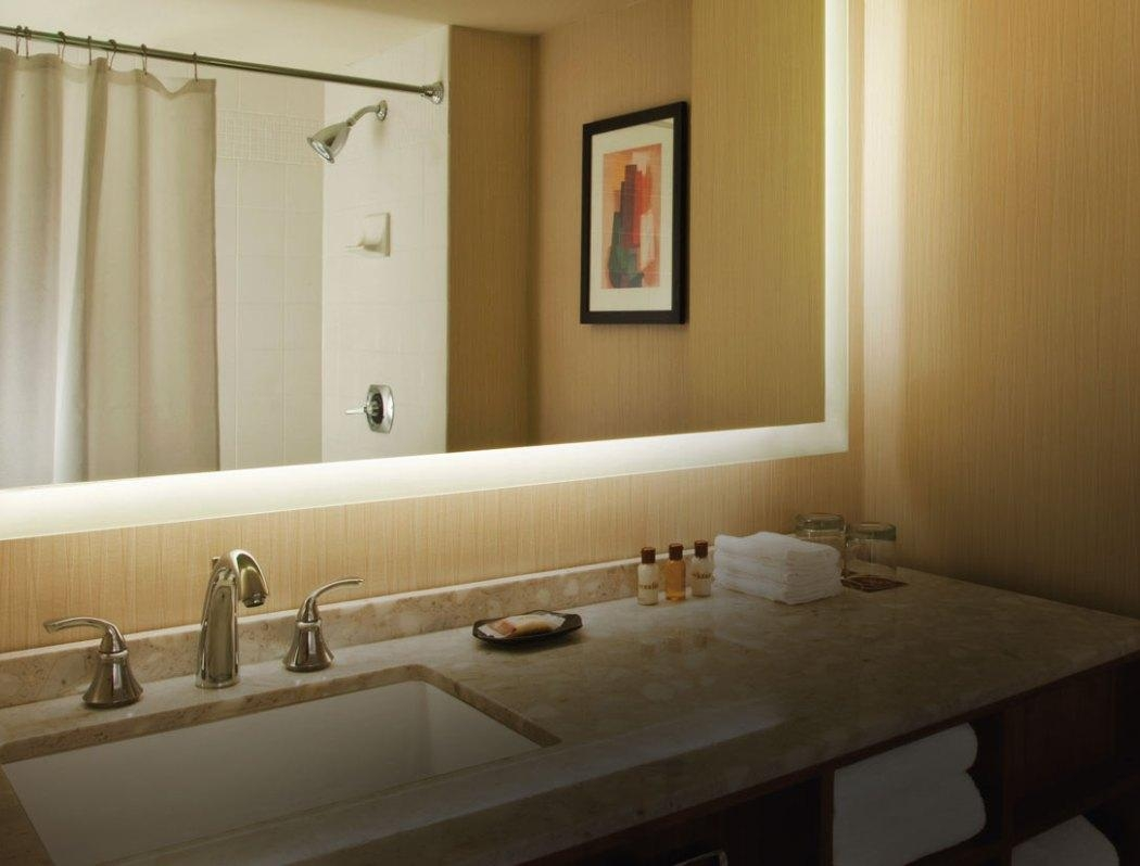 Mirror : Beauty Contemporary Bathroom Mirror With Led Lighting With Bathroom Mirrors With Led Lights (Image 18 of 20)