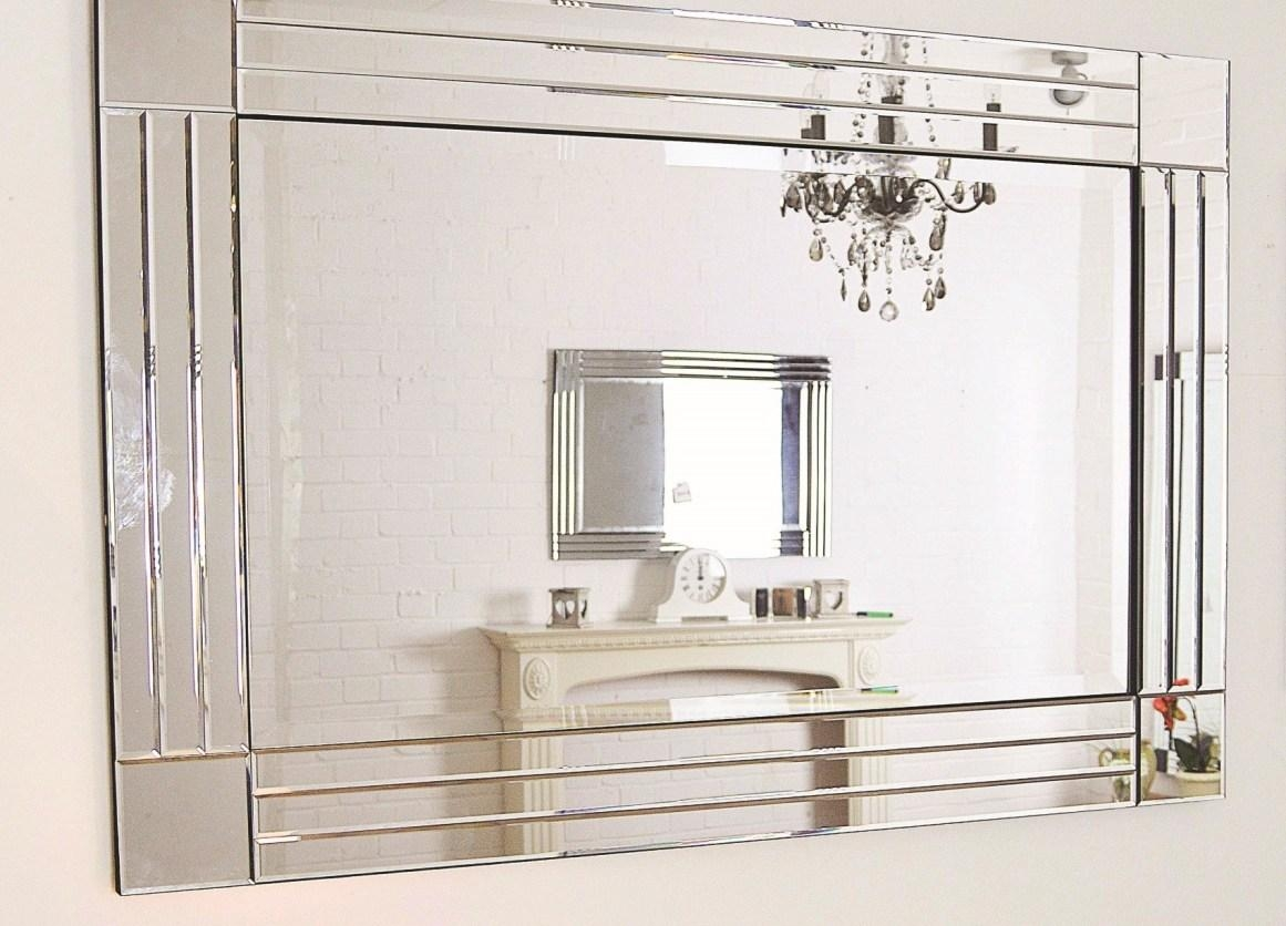 Mirror : Bevelled Wall Mirror Winsome Large Glass Bevelled Wall Regarding Bevelled Bathroom Mirrors (Image 16 of 20)