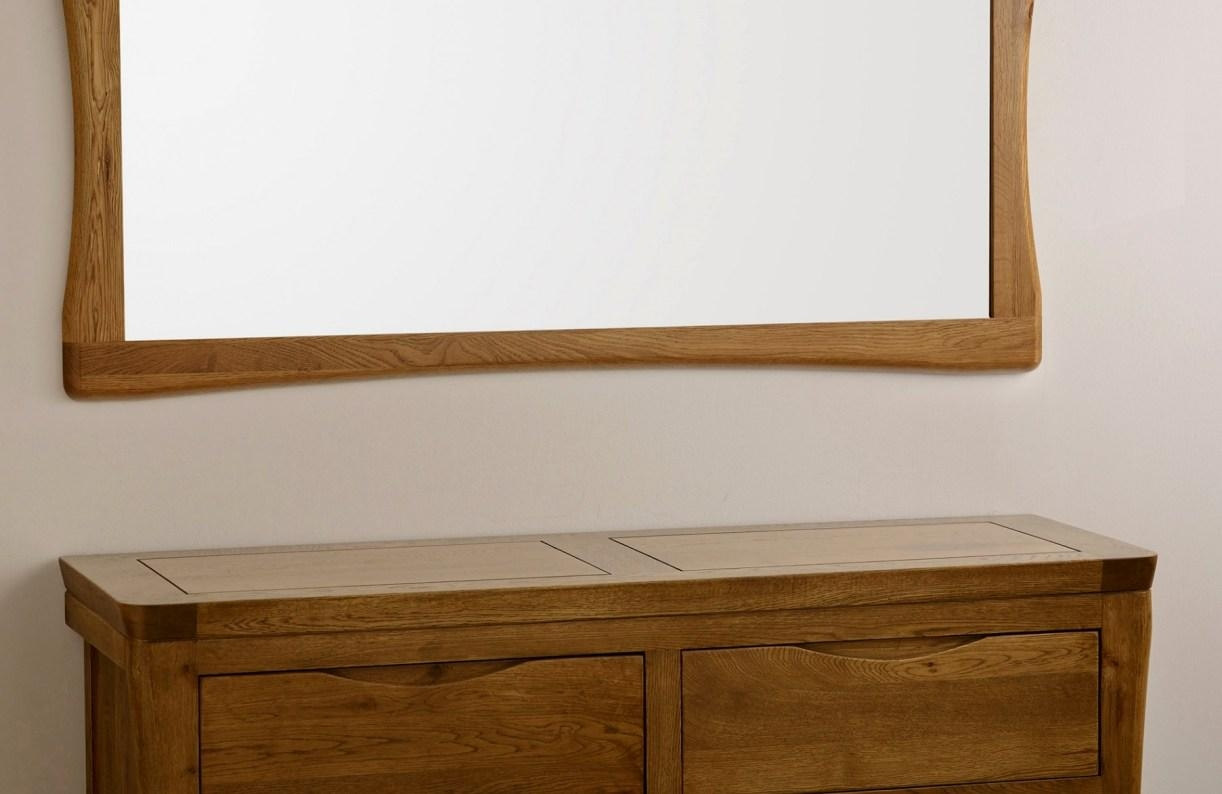 Mirror : Buy Oak Light Frame Large Mirror Online Furntastic For In Custom Framed Mirrors Online (Image 9 of 20)