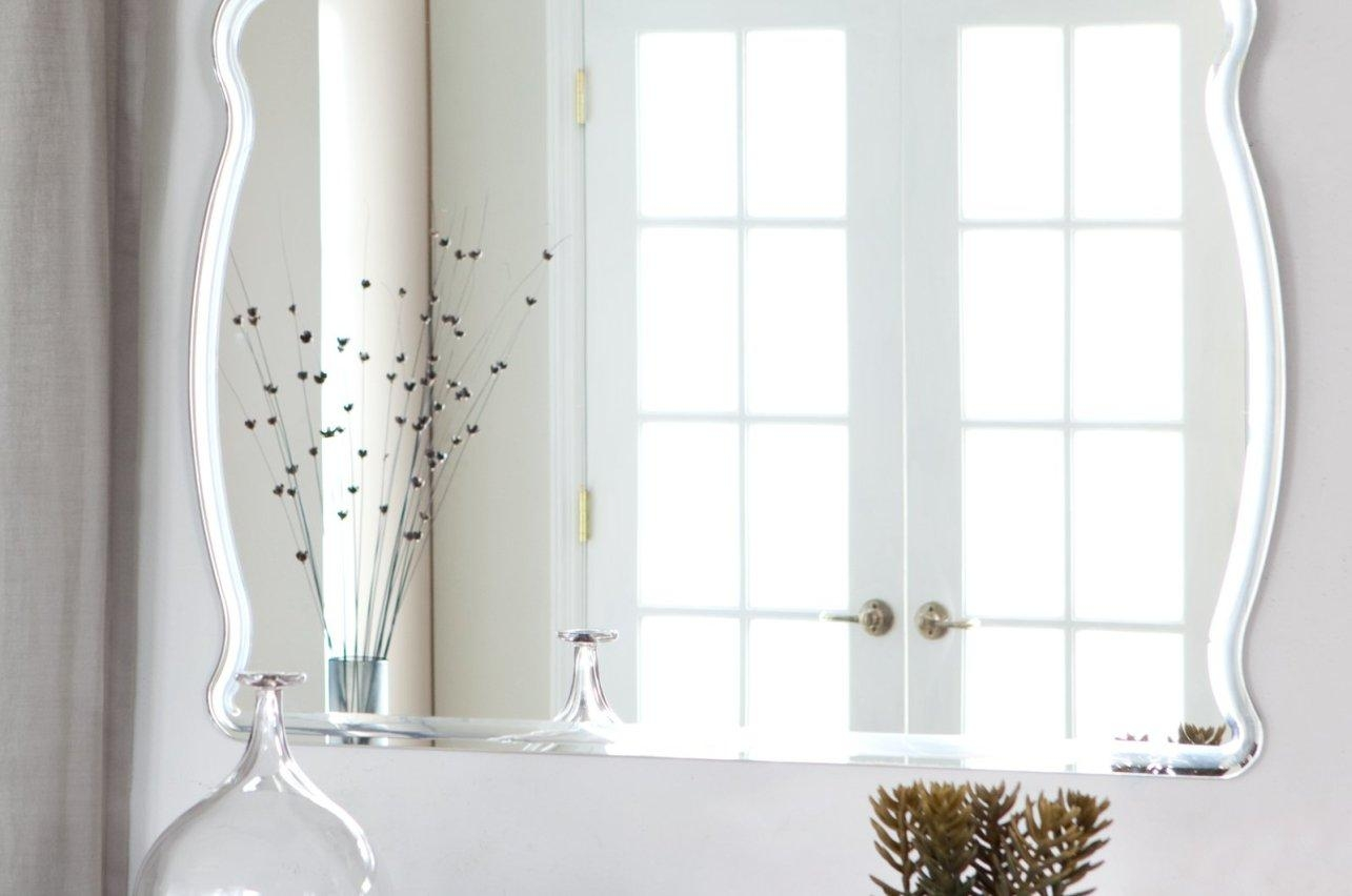 Mirror : Frameless Beveled Wall Mirror Beautiful Decoration Also Pertaining To No Frame Wall Mirrors (Image 7 of 20)