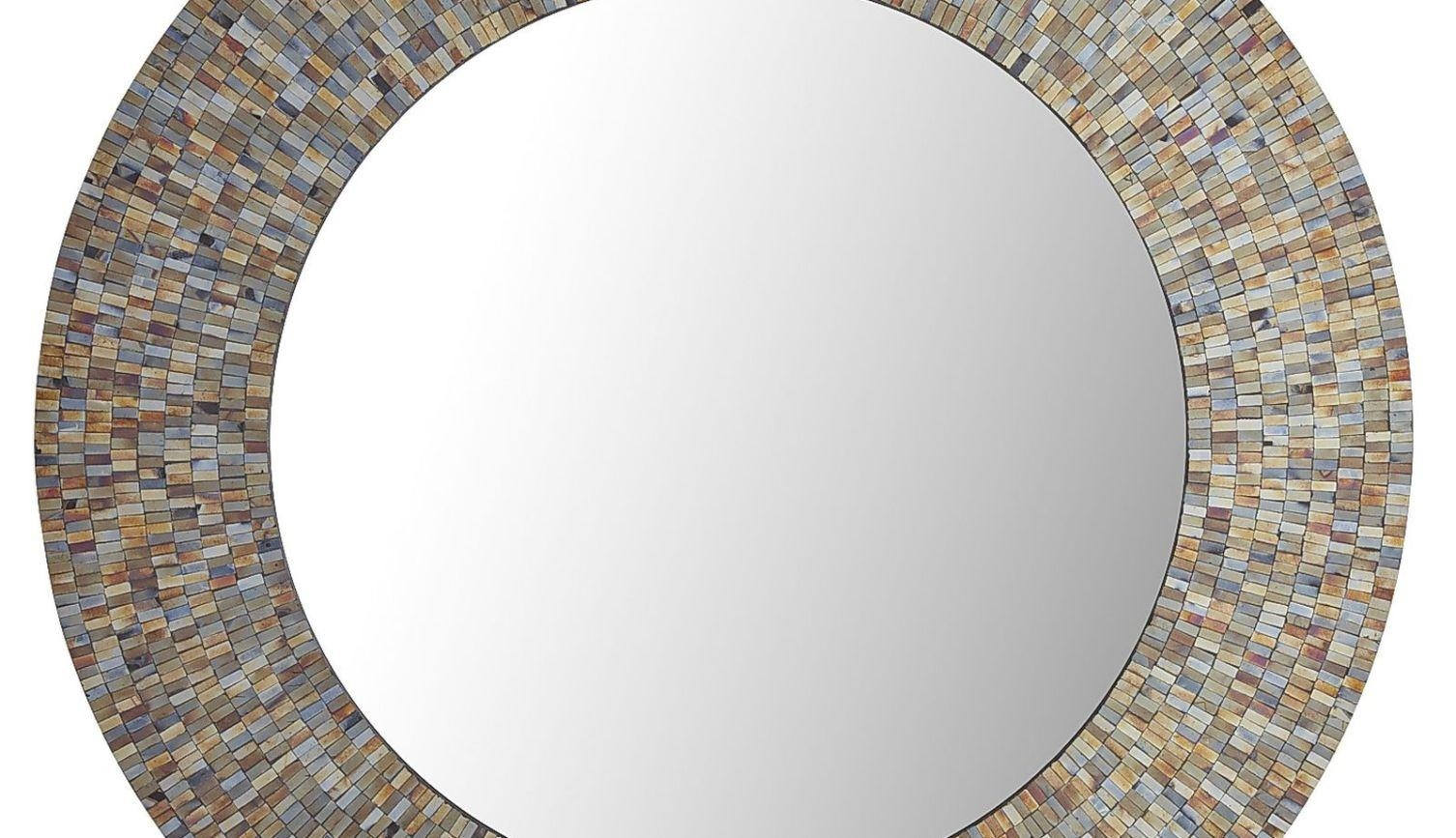 Mirror : Mirror Wall Art Amazing Round Mosaic Mirrors Champagne With Damask Mirrors (View 2 of 20)