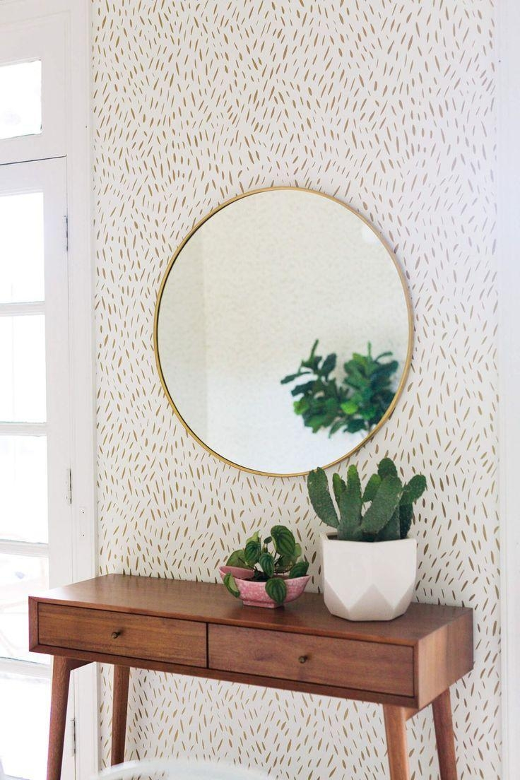 Mirror : Mirror Wall Art Beautiful Slim Wall Mirror Champagne Regarding Damask Mirrors (View 3 of 20)