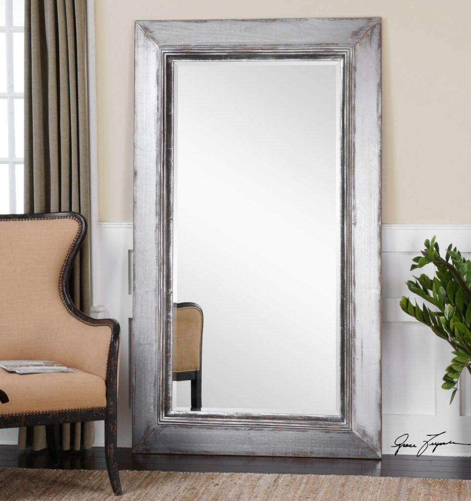 Mirrors: Inspiring Floor Length Mirrors Gold Floor Length Mirror In Framed Floor Mirrors (Image 16 of 20)