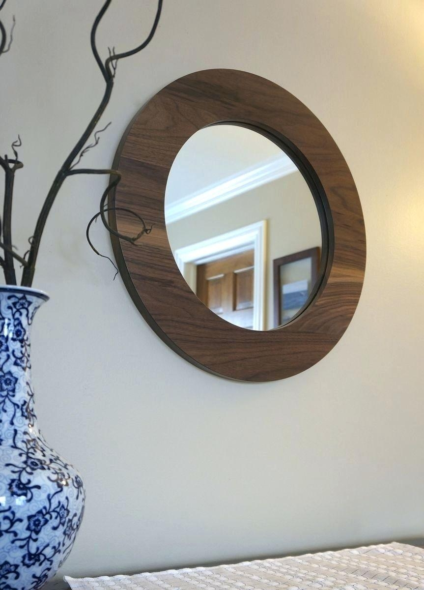 Mirrors : Walnut Round Mirror 31 Seattle Oval Tilting Mirror Heals Intended For Seattle Custom Mirrors (Image 18 of 20)
