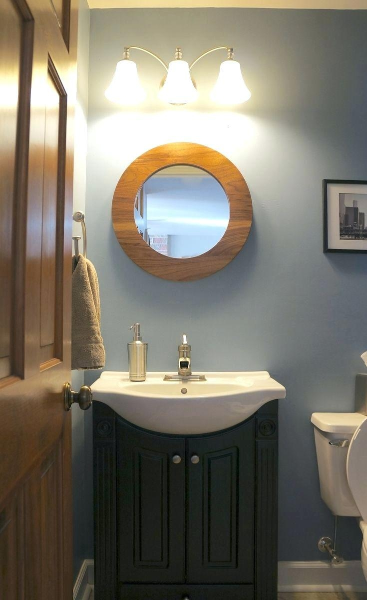 Mirrors : Walnut Round Mirror 31 Seattle Oval Tilting Mirror Heals Intended For Seattle Custom Mirrors (Image 17 of 20)